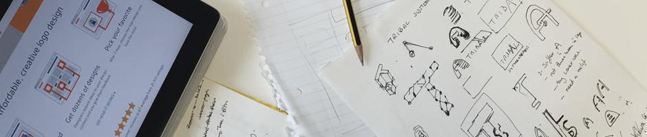 pages of logo design header