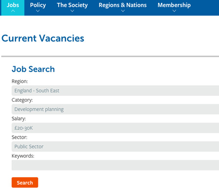 tps job search page
