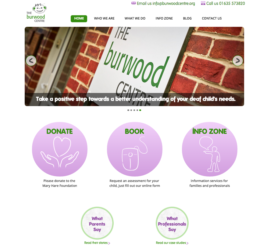 Burwood centre home page