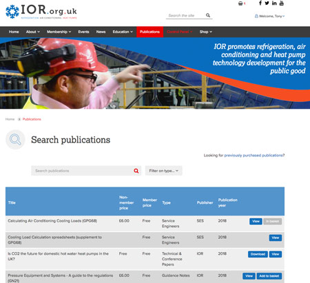 ior publications list