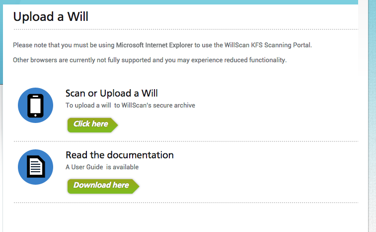 Upload a Will