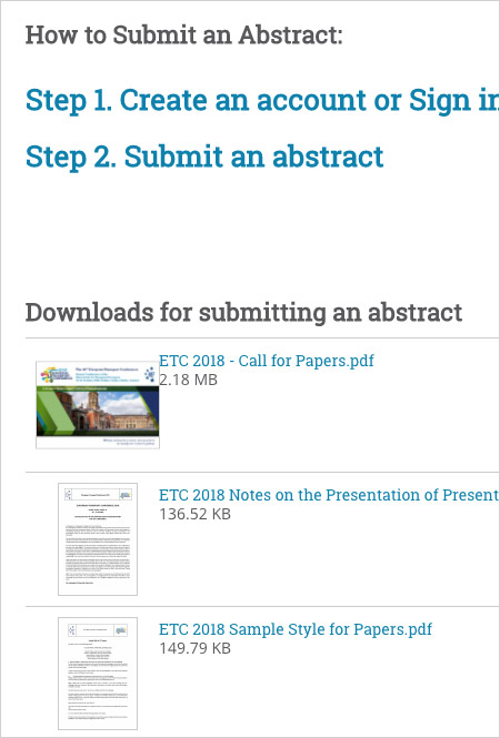 AET submit an abstract